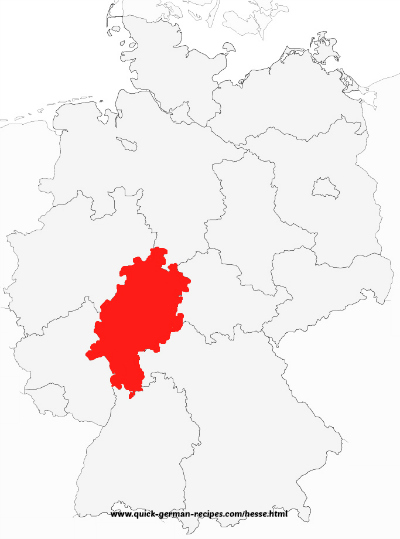 Map of Hesse Germany