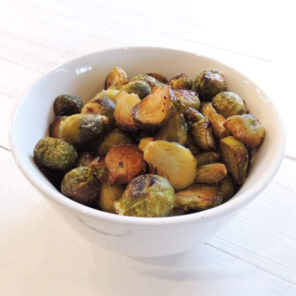 Vegan Roasted Brussels Sprouts with Balsamic Vinegar & Maple Syrup
