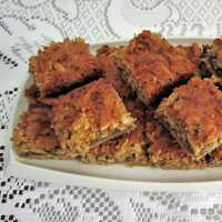 Oma's Coconut Bar Recipe with Pecans