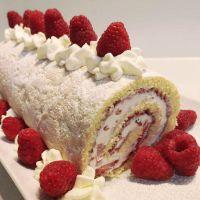 Oma's Cream Roll Recipe with Fresh Fruit