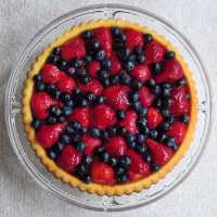 German Fruit Flan ~ Obsttorte