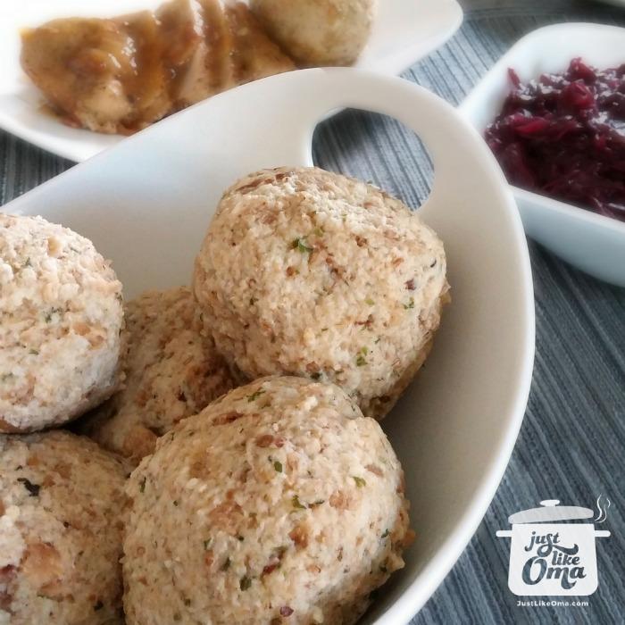 German Bread Dumplings ~ Bavarian