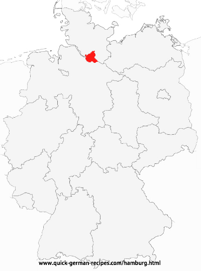 Map of Germany showing Hamburg