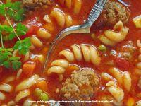 Oma's Quick Italian Meatball Soup