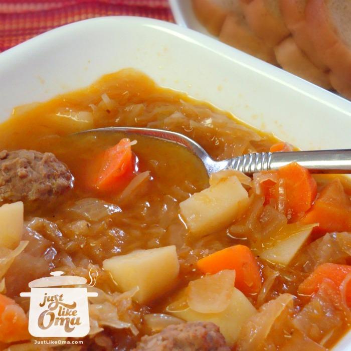 Oma's Sauerkraut Soup Recipe