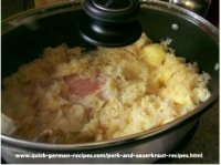 2. Potatoes, Smoked Pork, and Sauerkraut (slow cooker meal)