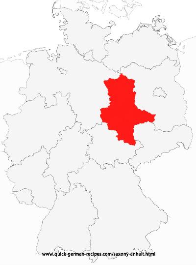 Saxony Anhalt map