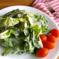Oma's Lettuce Salad with Sour Cream Dressing