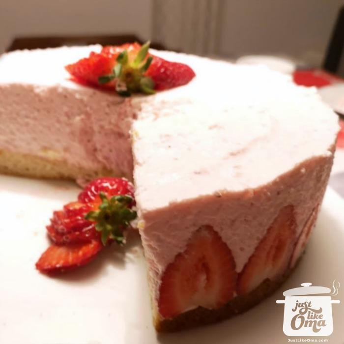 Oma's Strawberry Cream Torte
