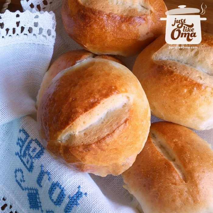 Oma's Brötchen ~ German Bread Rolls Recipe