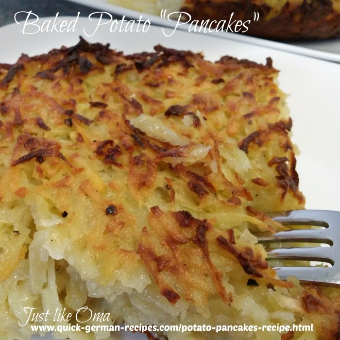 Baked Potato Pancakes made just like Oma