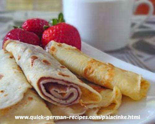 Austrian Pancakes: Palacinke