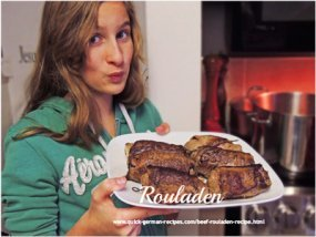 Alana with her rouladen