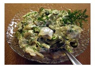 German Fish Recipe: herring salad
