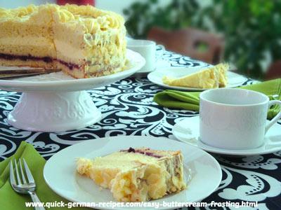 German cake: Pineapple Torte with Buttercream