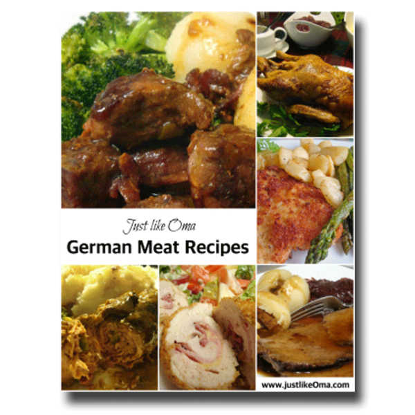 ❤️ Oma's Meat eCookbook will help you make meals just like you remember from your Mutti and Oma. With step-by-step instructions ... get your copy today!  #germanrecipes #justlikeoma #meatrecipes