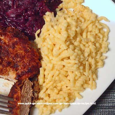 German Food Recipe: Spätzle