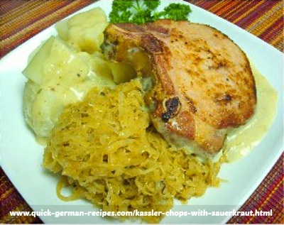 German Foods: Kasseler and Sauerkraut