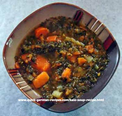 kale with sweet potato soup