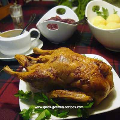 German food recipe: roast duck