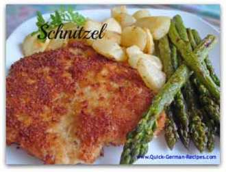 schnitzel with asparagus