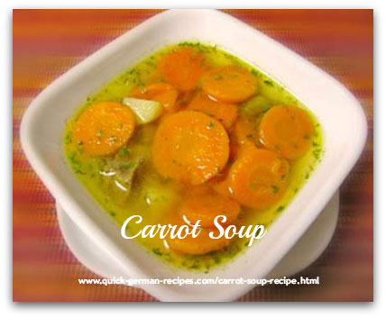German traditional recipes: Carrot Soup