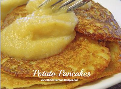 German Food Recipe: German potato pancakes