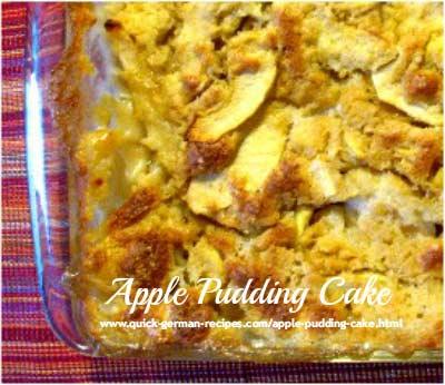 German Dessert Recipe: apple pudding cake