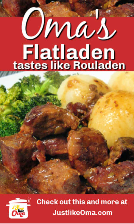 Beef Flatladen,  This recipe is a simpler way of achieving that delicious Rouladen taste but without all the hassle.