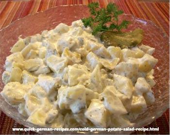 Cold Potato Salad - traditional salad for summer