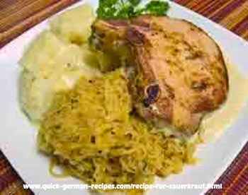 German foods: sauerkraut and kasseler