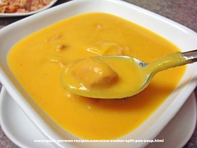 German Soups: Slow Cooker Split Pea Soup
