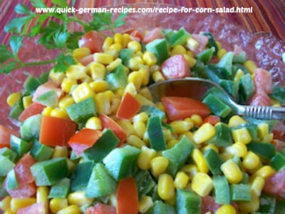 Delicious German Corn Salad