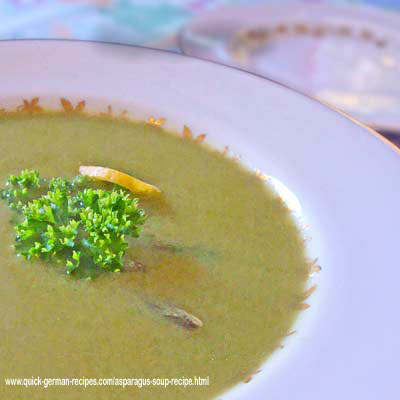 Cream of Asparagus Soup - a spring-time treat