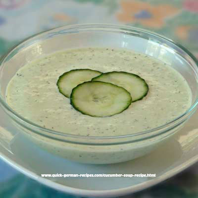 Cucumber Soup - chilled ... quick and easy and wunderbar!