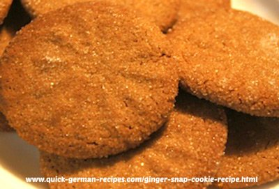 Ginger Snap Cookies -  need a glass of milk!