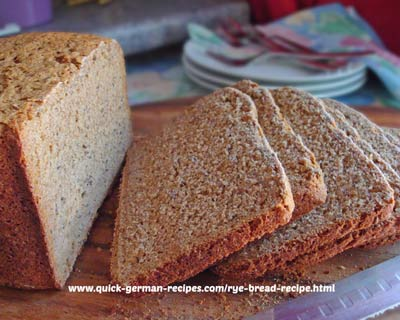 Rye Bread - use your bread machine for this. That's quick!