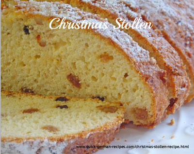 Stollen - traditional German Quarkstollen