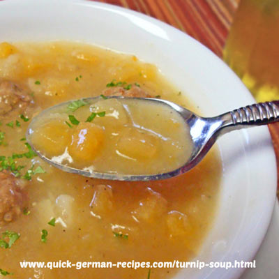 Turnip Soup - unusually good
