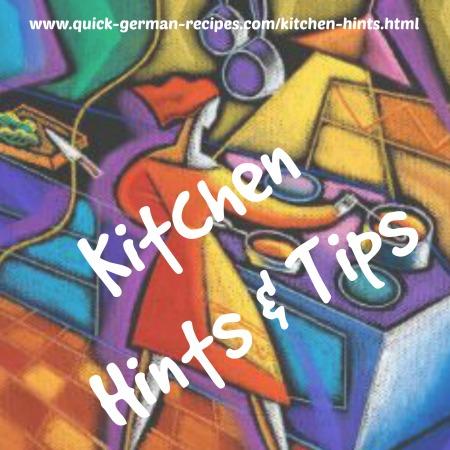Kitchen Hints & Tips