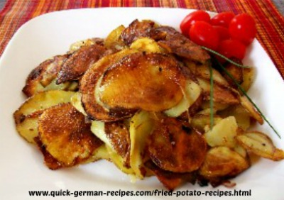 German Food Recipe: Fried Potatoes