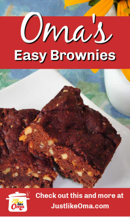 Brownies, both regular and vegan types, made easily, just like Oma.