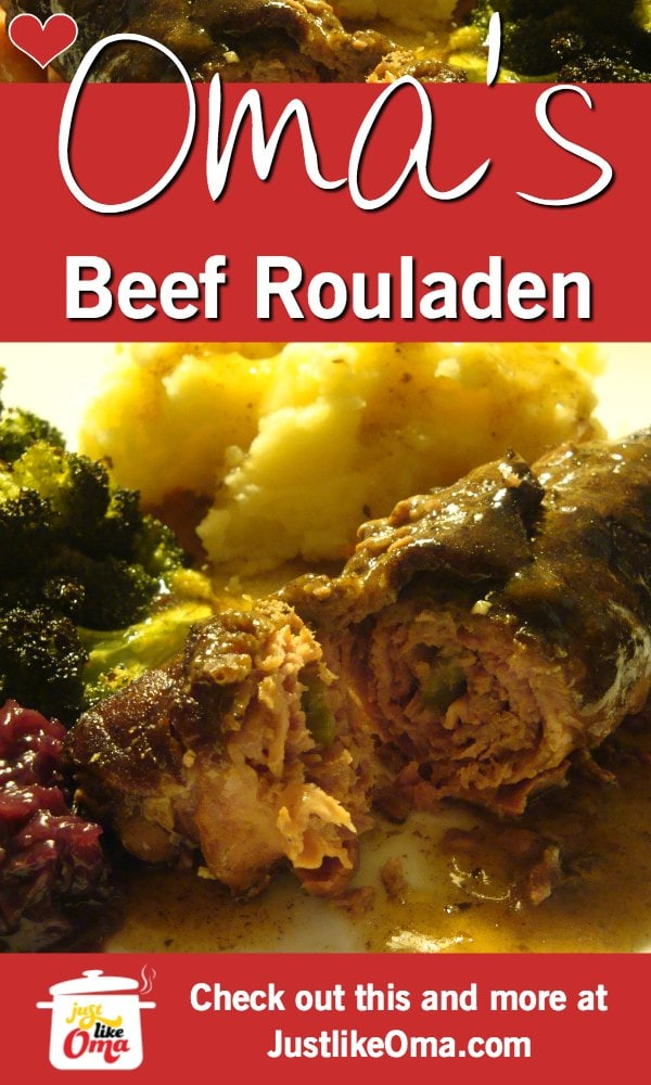 Wunderbar! Beef Rouladen. THE traditional German food!