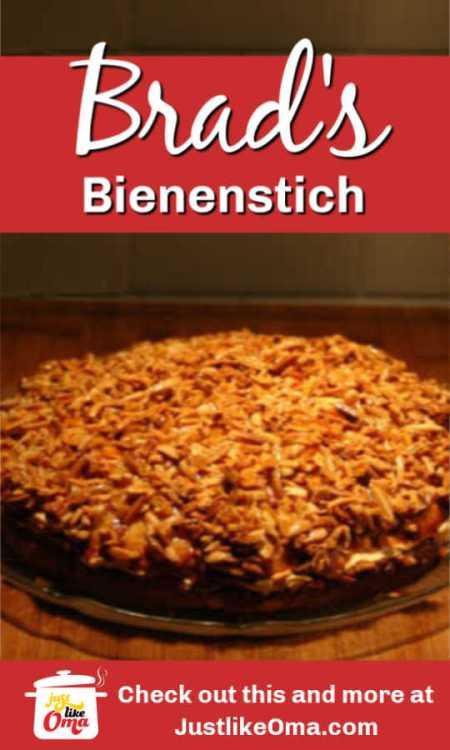❤️ Here's Brad's Bienenstich he made usingl Caramel Custard Cream following Heide's recipe