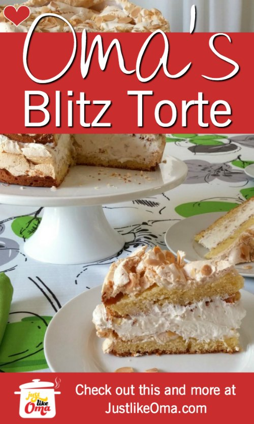 Oma's German Blitz Torte. Refreshing and delicious