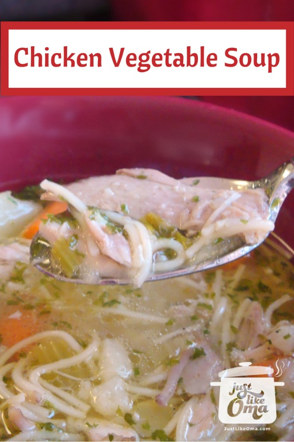 ❤️ Chicken Vegetable Soup ... so comforting  anytime! Made just like Oma!