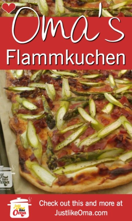 ❤️Making Oma's Tarte Flambèe ~ Flammkuchen ... a type of German pizza. https://www.quick-german-recipes.com/tarte-flambee.html #germanrecipe #justlikeoma #pizza