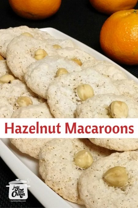 German Hazelnut Cookies are the traditional Haselnussmakronen that we love, especially at Christmas. ❤️ https://www.quick-german-recipes.com/hazelnut-cookies.html