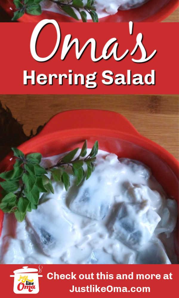 Wunderbar! Creamy sweet and sour herring salad.