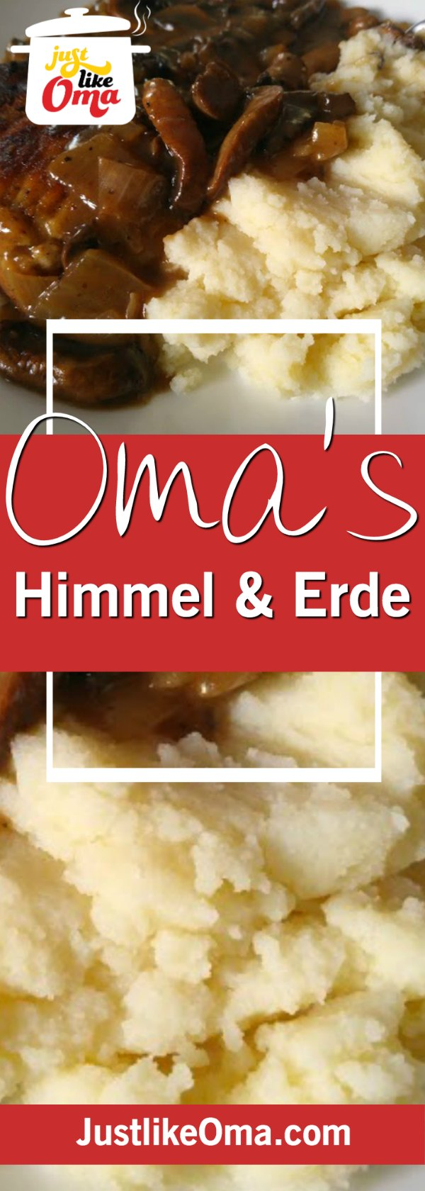 Himmel und Erde, aka Heaven and Earth, combining apples and potatoes.